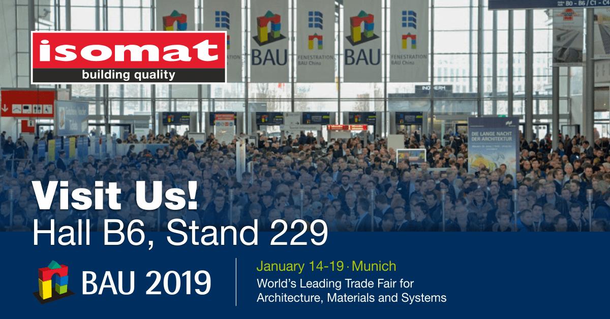 ISOMAT at BAU International Fair 2019