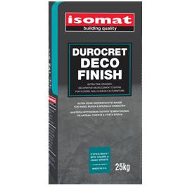 DUROCRET-DECO FINISH Λεπτόκοκκη, ρητινούχα πατητή τσιμεντοκονία