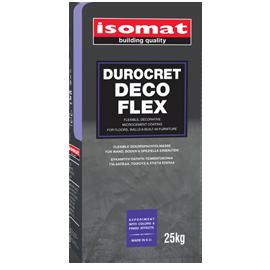 DUROCRET-DECO FLEX Εύκαμπτη, ινοπλισμένη, ρητινούχα, πατητή τσιμεντοκονία