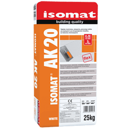 ISOMAT AK-20 Υψηλής ποιότητας, εύκαμπτη, ρητινούχα, τσιμεντοειδής κόλλα πλακιδίων