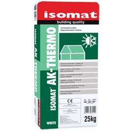 ISOMAT AK-THERMO Ινοπλισμένη, ρητινούχα, τσιμεντοειδής κόλλα και υλικό σπατουλαρίσματος θερμομονωτικών πλακών