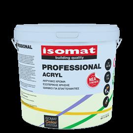 ISOMAT PROFESSIONAL ACRYL Ματ ακρυλικό χρώμα για εξωτερική χρήση