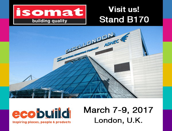 ISOMAT will be part of ECOBUILD 2017 in March
