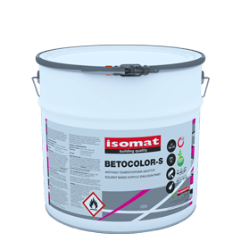 ISOMAT BETOCOLOR-S Ματ ακρυλικό τσιμεντόχρωμα διαλύτου για εξωτερική χρήση