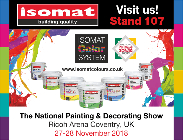 ISOMAT at The National Painting and Decorating Show 2018