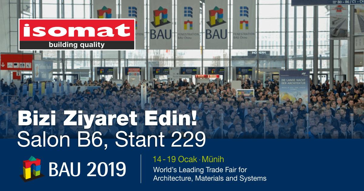 ISOMAT, 2019 BAU Uluslararası Fuarında