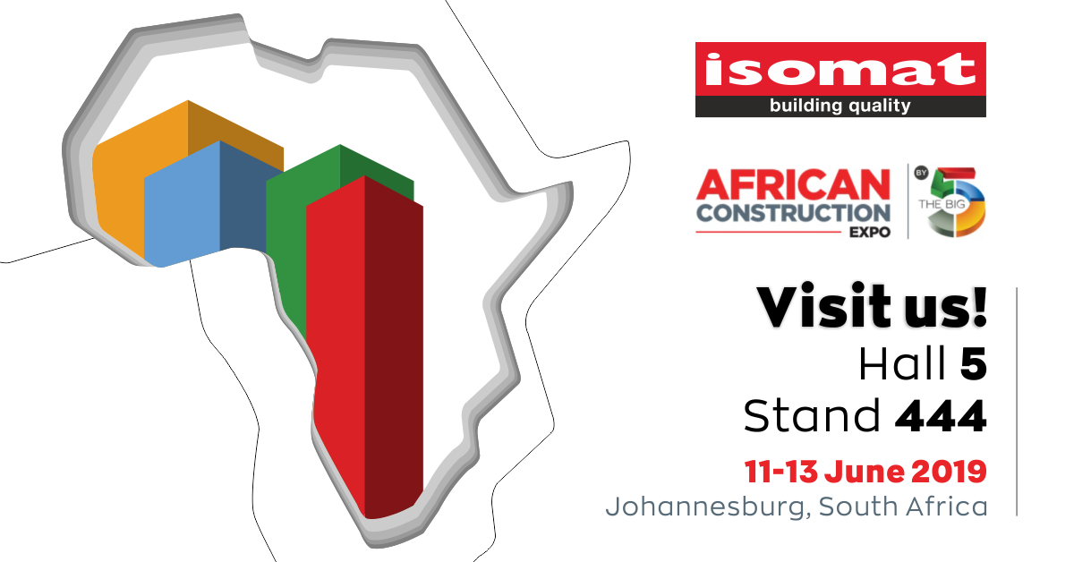 ISOMAT at the African Construction Expo 2019 - ISOMAT
