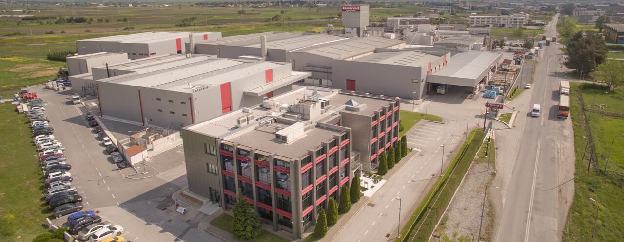 Οι εγκαταστάσεις της ISOMAT στη Θεσσαλονίκη